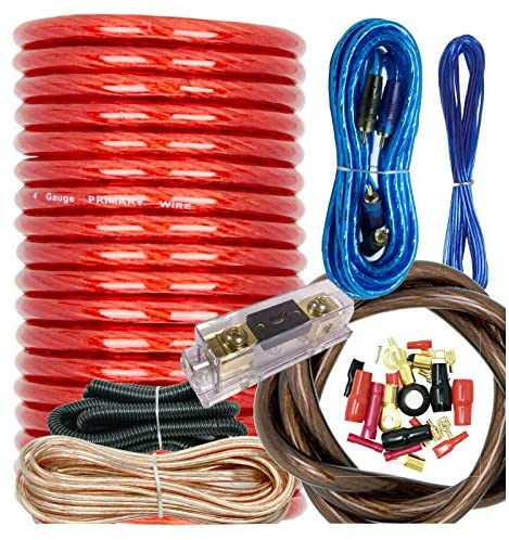 Read more about the article Audiobank BCC4AR Complete 4 Gauge 3000 Watts Car Amplifier Installation Power Amp Wiring Kit Inline AGU Fuse Holder & 80A Fuse and All The Accessories / Terminal Included Red