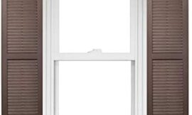 Homeside Open Louver Vinyl Shutters (1 Pair) 14-1/2in. x 71in. – 022 Chocolate