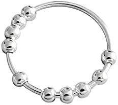 Read more about the article ikasus Women Men Fidget Anxiety Ring Silver Bead Ring Spinner Ring Stress Relief Fidget Ring Stackable Ring,Relieve Stress Gadgets Sensory Toys, Gadgets Ring