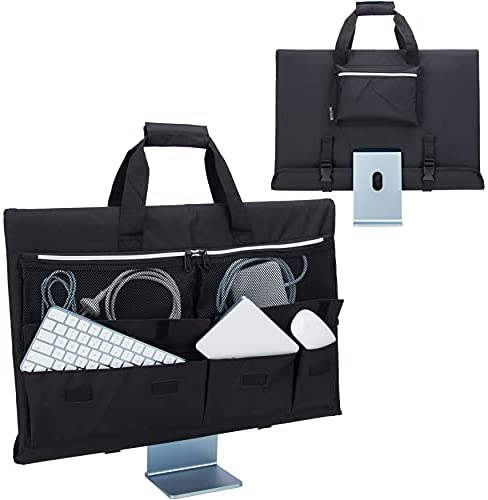 Read more about the article KISLANE Travel Carrying Case for 24'' iMac Desktop Computer, Protective Storage Bag for iMac Monitor Dust Cover with Carry Handle for 24 inch iMac Screen and Accessories (Black)