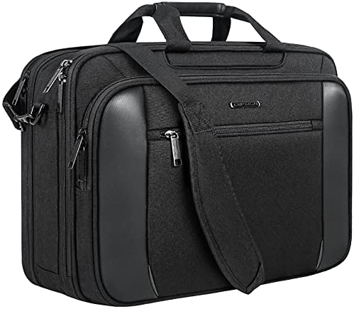 Read more about the article EMPSIGN 18 Inch Laptop Bag Briefcase, XL Gaming Computer Bag Laptop Case for Men & Women, Water Repellent, Office Carrying Case Shoulder Bag for Work Business Commute Travel School-Black