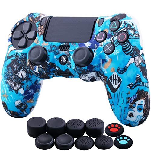 Read more about the article YoRHa Water Transfer Printing Camouflage Silicone Cover Skin Case for Sony PS4/slim/Pro Dualshock 4 Controller x 1(Witch) with Thumb Grips x 10