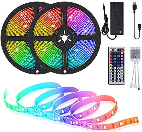 Read more about the article LED Strip Lights, Attuosun 32.8feet/10M RGB 300Leds SMD5050 Waterproof Flexible Rope Lights, Color Changing Self-Adhesive Led Strips Kit with 44Key IR Remote Controller and 12V Power Supply for Home