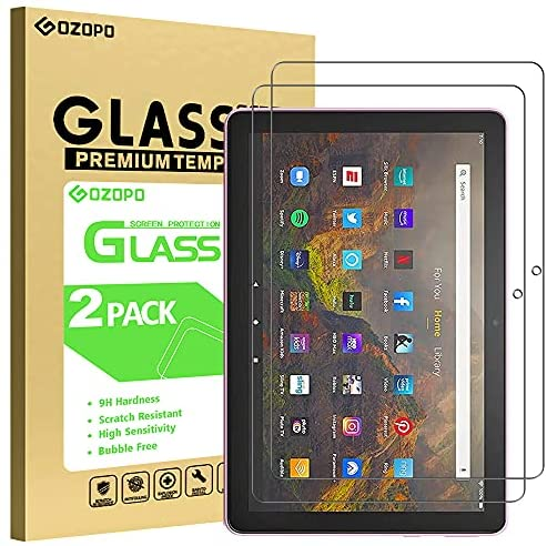 Read more about the article GOZOPO Screen Protector for Fire HD 10 Tablet and Fire HD 10 Plus 10.1″ (Only compatible with 11th generation tablet, 2021 release), Tempered Glass Film – 2-Pack