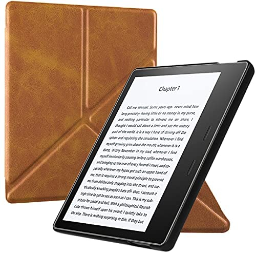 Read more about the article BOZHUORUI Origami Stand Case for All-New Kindle Oasis (10th Gen, 2019 Release & 9th Gen, 2017 Release) – Lightweight Slim Premium PU Leather Cover with Auto Wake Sleep (Business Brown)