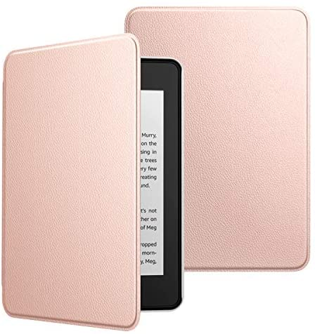 Read more about the article MoKo Case Fits Kindle Paperwhite (10th Generation, 2018 Releases), Premium Ultra Lightweight Shell Cover with Auto Wake/Sleep for Amazon Kindle Paperwhite 2018 E-Reader – Rose Gold