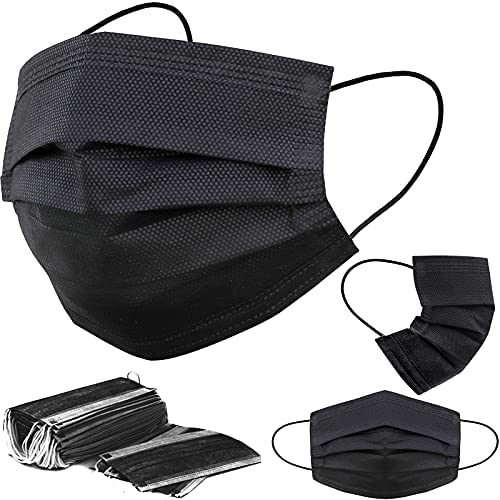 Read more about the article ZMMZ 50 PCS Black Face Masks 3-Ply Filter Earloop Mouth Cover, Face Mask for Adult Outdoor Mouth Cover Masks 50 Pack