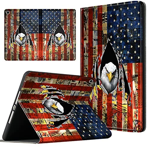 Read more about the article Case for Kindle Fire HD 10 Tablet 10.1″ (9th / 7th Generation, 2019/2017 Release) , Lightweight Premium PU Leather Soft Folio Cover Smart Stand for Kindle HD 10 2019, Patriotic Eagle Flag