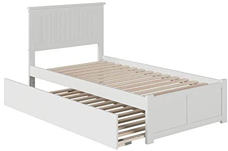 Read more about the article Atlantic Furniture Nantucket Bed with Footboard and Twin Extra Long Trundle, XL, White