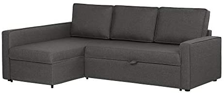 Read more about the article South Shore Live-It Cozy Interchangeable Sectional Sofa-Bed with Ottoman, Charcoal Gray