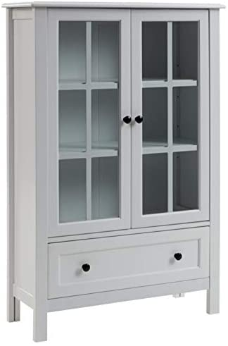 Read more about the article Signature Design by Ashley Miranda Accent Cabinet, 32″ W x 12″ D x 47″ H, White