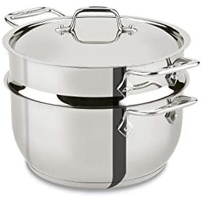 Read more about the article All-Clad E414S564 Stainless Steel Steamer Cookware, 5-Quart, Silver –