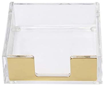 Read more about the article MultiBey Sticky Notes Memo Pad Holder Dispenser Rose Gold with Clear Desk Supplies Organizer Accessories for Office Home Schools (Gold)