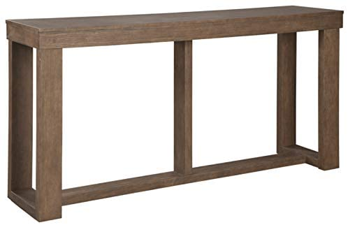 Read more about the article Signature Design by Ashley Cariton Contemporary Sofa Console Table, Grayish Brown