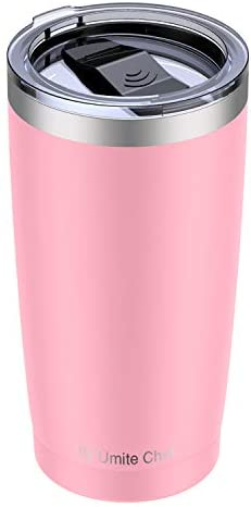 Read more about the article Umite Chef 20oz Stainless Steel Tumbler with Lid, Double Wall Vacuum Insulated Travel Mug Tumbler with Straw, Durable Insulated Coffee Mug for Hiking, Camping & Traveling(Pink)