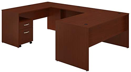 Read more about the article Bush Furniture Commerce 60W U Shaped Desk with Mobile File Cabinet
