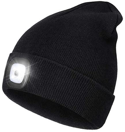 Read more about the article LED Beanie Hat with Light,Unisex USB Rechargeable Hands Free 4 LED Headlamp Cap Winter Knitted Night Lighted Hat Flashlight Women Men Gifts for Dad Him Husband