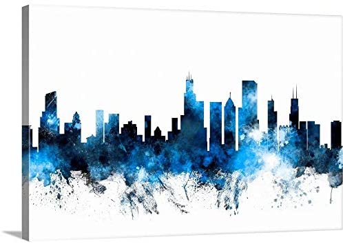 Read more about the article Chicago Illinois Skyline Canvas Wall Art Print, Chicago Artwork