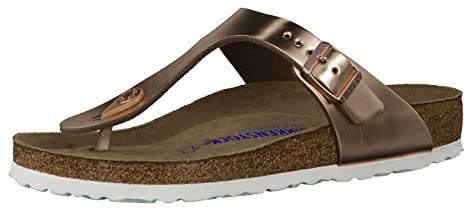 Read more about the article Birkenstock Women's Gizeh Soft Cork Footbed Thong Sandal Copper 39 Medium EU