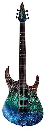 Read more about the article EART EXPLORER-1 Electric Guitar 6 String Right Solid-Body Electric Guitar, poplar-burl veneer- Heavy metal, solo, colorful