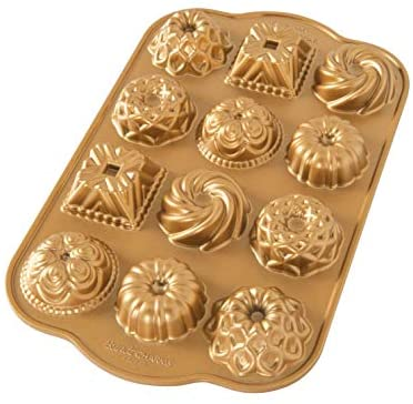 Read more about the article Nordic Ware Charms Cast Bundt Pan, 1.2 Cup Capacity, Gold