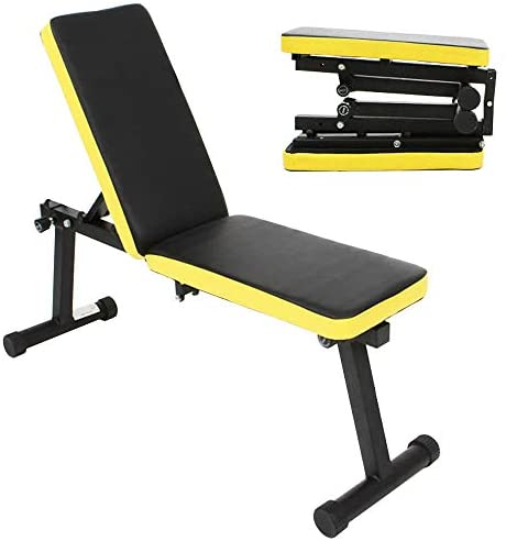 Read more about the article Soges Folding Dumbbell Bench Height Adjustable Incline Exercise Bench, Multi-Functional Home Gym Strength Training Fitness Workout Station, PSBB003
