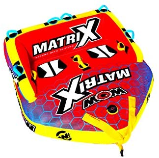 Read more about the article WOW World of Watersports Matrix Towable Boat Tube, 1-4 Person, 20-1060, Red