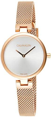 Read more about the article Calvin Klein Women's Stainless Steel Quartz Watch with Gold Plated Strap, Rose, 10 (Model: K8G23626)