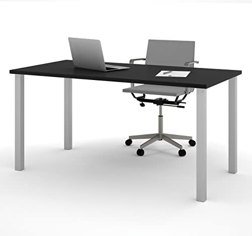 Read more about the article Bestar Table with Square Metal Legs, 30 x 60, Black