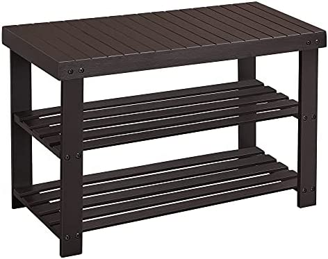 Read more about the article SONGMICS 3-Tier Bamboo Shoe Rack Bench, Shoe Organizer Shelf, Holds Up to 264 lb, Brown