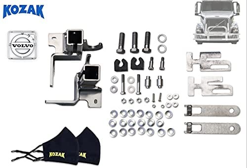 Read more about the article KOZAK Bumper Mounting Brackets Hardware Set for Deer Moose Brush Guard Compatible with Volvo VNL 2004-2017 Semi Trucks – Plus Volvo Logo Emblem Accessories