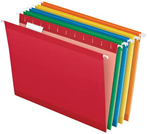 Read more about the article Pendaflex Reinforced Hanging Folders, Letter Size, Assorted Colors (Green, Blue, Red, Yellow, Orange) 1/5 Cut, Tabs and Inserts, 25/Box (41522AMZ)