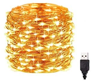 Read more about the article Houshelp 12M-120LED String Lights USB Powered String Lights Waterproof Twinkle Lights String Lights Outdoor Fairy Lights Outdoor Waterproof (Yellow, 12M-120LED)