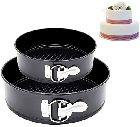 Read more about the article Non-stick Springform Pan Tin with Removable Bottom -Set of 2(4″ /7″ ) Leakproof Bakeware Mold Cheesecake Pan Round Detachable Baking Pan For Smash Cake,Cheesecake, Pizzas and Quiches Enthusiast Baker