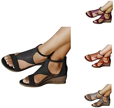 Read more about the article Womens Sandals Open Toe Wedges Gladiator Flats Platform Slingback Buckle Strap Casual Summer Dressy Sandals for Women