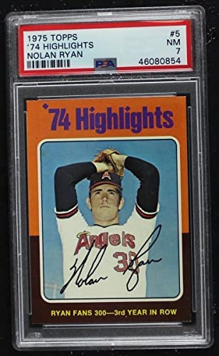 Read more about the article 1975 Topps # 5 Fans 300 Nolan Ryan Los Angeles Angels (Baseball Card) PSA PSA 7.00 Angels