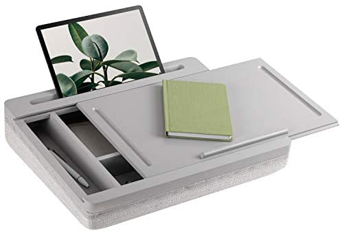 Read more about the article Rossie Home Storage Lap Desk with Sliding Lid – Calming Gray – Style No. 71005