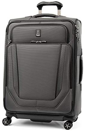 Read more about the article Travelpro Crew Versapack Softside Expandable Spinner Wheel Luggage, Titanium Grey, Checked-Medium 25-Inch