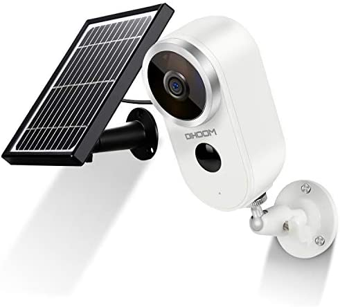 Read more about the article Outdoor Solar Security Camera Wireless 1080P Rechargeable Battery Powered WiFi Camera 2 Way Audio, DIHOOM HD Video Wirefree IP Camera Motion Alarm Home Surveillance Camera System