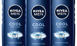 Nivea Men Cool 3-in-1 Body Wash with Menthol & Yuza, 16.9 Fl. Oz (Pack of 3)