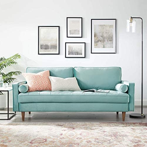 Read more about the article Modway Valour Performance Velvet Upholstered Tufted Sofa, Mint
