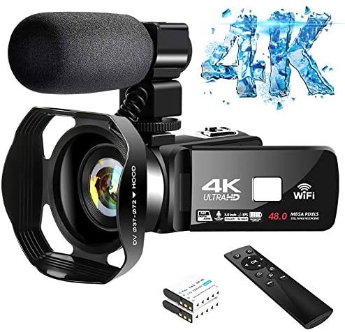 Read more about the article 4K Camcorder Digital Camera Video Camera WiFi Vlogging Camera Camcorders with Microphone 30FPS 3″ HD Touch Screen Vlog Camera for YouTube with IR Night Vision and Remote Control
