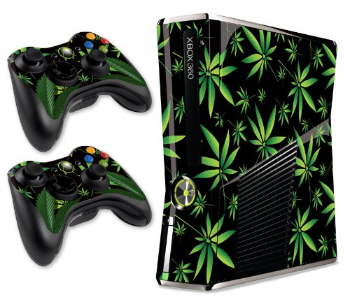 Read more about the article 247 Skins Graphics kit Sticker Decal Compatible with Xbox 360 Slim and Controllers – Weeds Black