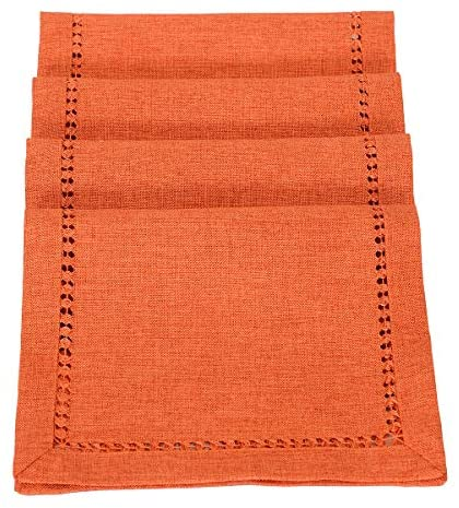 Read more about the article Grelucgo Set of 4 Hemstitch Orange Table Place mats for Thanksgiving Fall Autumn Holidays Decorations, Rectangular 12 by 18 Inch