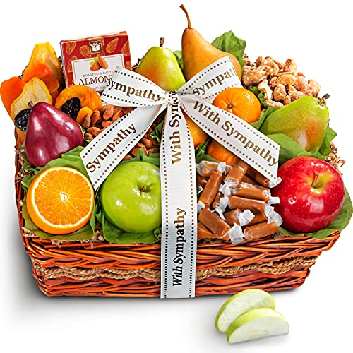 Read more about the article With Sympathy Orchard Delight Fruit and Gourmet Gift Basket