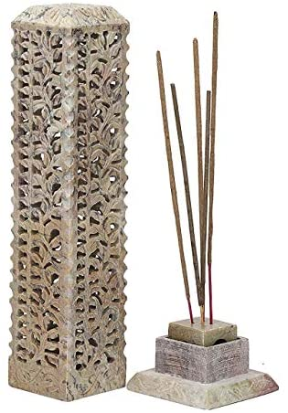 Read more about the article GMRS Home Handcrafted Stone Incense Holder   Candle Holder (Floral 1)