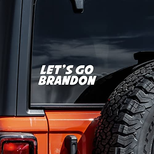 Read more about the article Let's Go Brandon Decal Vinyl Sticker Auto Car Truck Wall Laptop | White | 8″ Wide
