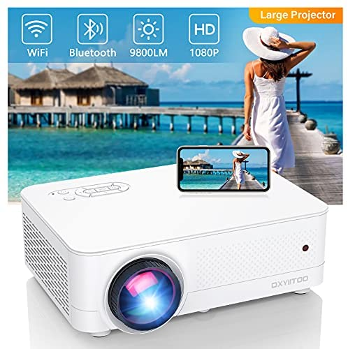 Read more about the article Full HD Native 1080P WiFi Bluetooth Projector, 9800LM 450″ Display Support 4K Movie Projector, High Brightness for Home Theater and Business, Compatible with iOS/Android/TV Stick/PS4/HDMI/PPT