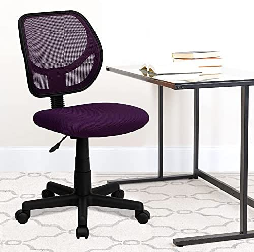 Read more about the article Flash Furniture Low Back Purple Mesh Swivel Task Office Chair