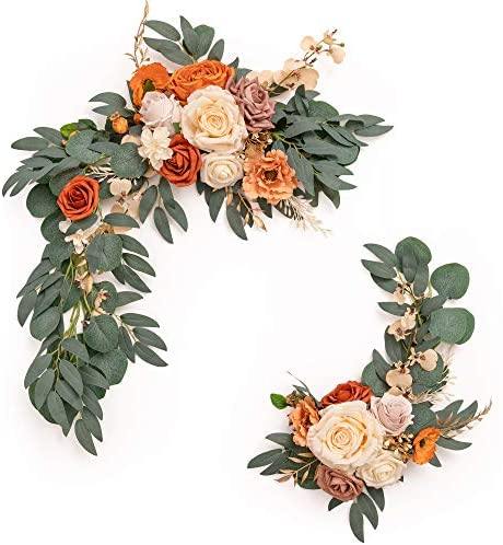 Read more about the article Ling's moment Artificial Flower Swag for Terracotta or Burnt Orange Wedding Ceremony Sign Floral Decoration – Pack of 2